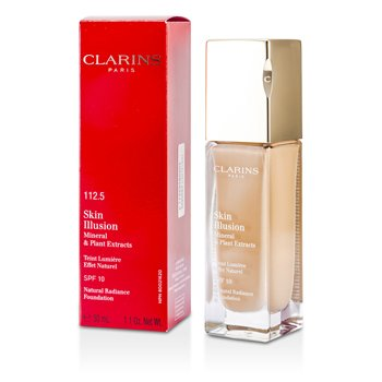 Clarins Podkład z ochronnym filtrem Skin Illusion Natural Radiance Foundation SPF 10 - # 112.5 Caramel  30ml/1.1oz