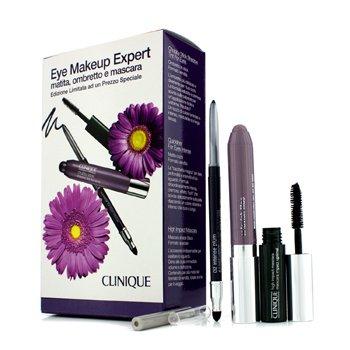 Clinique Experto de Maquillaje de Ojos (1x Delineador, 1x Sombra de Ojos en Barra, 1x M�scara de Alto Impacto) - Purple  3pcs