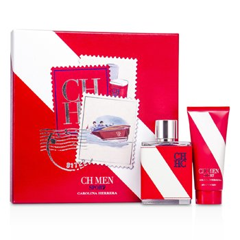 Carolina Herrera Zestaw CH Sport Coffret: Eau De Toilette Spray 100ml/3.4oz + After Shave Balm 100ml/3.4oz  2pcs