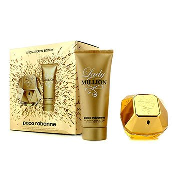 Paco Rabanne Lady Million Special Travel Edition Coffret: Eau De Parfum Spray 80ml/2.7oz + Loción Corporal Sensual 100ml/3.4oz  2pcs