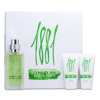 Cerruti Cerruti 1881 Acqua Forte Coffret: Eau De Toilette Spray 75ml/2.5oz + 2x Shower Gel 50ml/1.7oz  3pcs