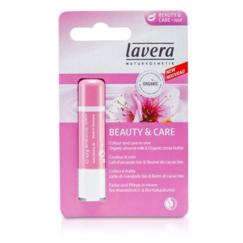Lavera Lip Balm - Beauty & Care Rose  4.5g/0.15oz