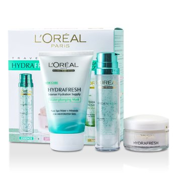 L'Oreal Hydrafresh Deep Hydration Programme: Mask 100ml  + Deep Boosting Essence 50ml + Dry Skin Moisturising Cream 50ml  3pcs