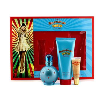 Britney Spears Circus Fantasy Coffret: Eau De Parfum Spray 50ml/1.7oz + Souffle Corporal 100ml/3.3oz + Brillo de Labios 8ml/0.27oz  3pcs