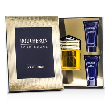 Boucheron Boucheron Coffret: Eau De Parfum Spray 100ml/3.3oz + 2x Soothing After Shave Balm-Balsem Setelah Bercukur 50ml/1.6oz  3pcs
