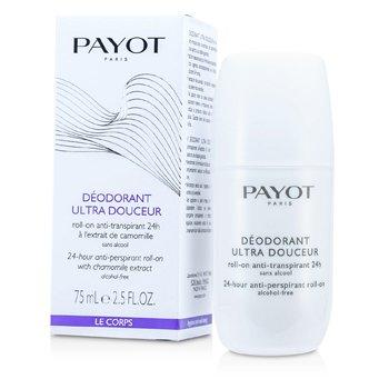 Payot Le Corps Deodorant Ultra Douceur - Roll-On Anti Transpirante de 24-Horas (Libre de Alcohol)  75ml/2.5oz