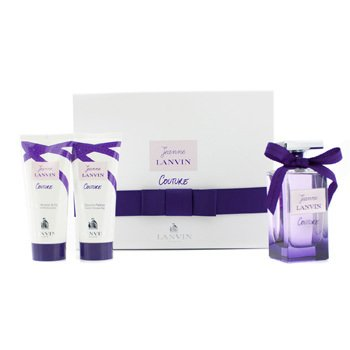 Lanvin Jeanne Lanvin Couture Coffret: Eau De Parfum Spray 100ml/3.4oz + Loci�n Corporal 100ml/3.3oz + Gel de Ducha 100ml/3.3oz  3pcs