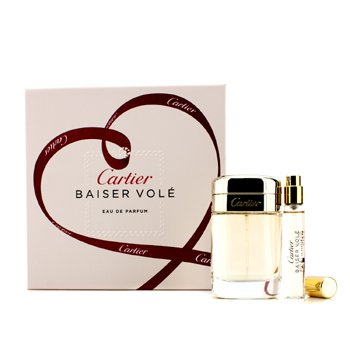 Cartier Baiser Vole Coffret: Eau De Parfum Spray. 50ml/1.6oz + Eau De Parfum Spray. 9ml/0.3oz  2pcs