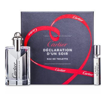 Cartier Declaration d'un Soir Kofre: Eau De Toilette Sprey 50ml/1.6oz + Eau De Toilette Sprey 9ml/0.3oz  2pcs