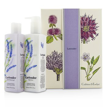 Crabtree & Evelyn Lavender Perfect Pair: Bath & Shower Gel 250ml + Body Lotion 245ml  2pcs