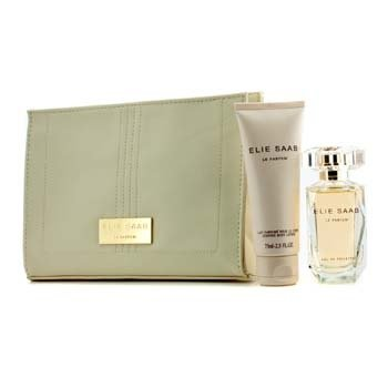 Elie Saab Le Parfum Coffret: Eau De Toilette Spray 50ml/1.6oz + Loción Corporal 75ml/2.5oz + Bolso de Belleza  3pcs+1pouch