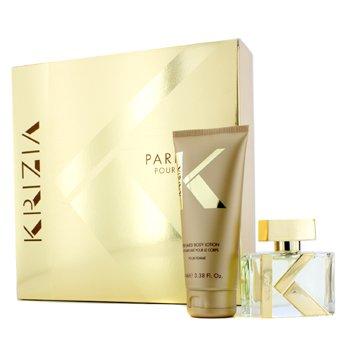 Krizia Kit Pour Femme: Eau De Parfum Spray 30ml/1oz + Loção Para Corpo 100ml/3.38oz  2pcs