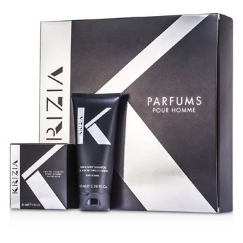Krizia Kit Pour Homme: Eau De Toilette Spray 30ml/1oz + Sabonete Liquido 100ml/3.38oz  2pcs