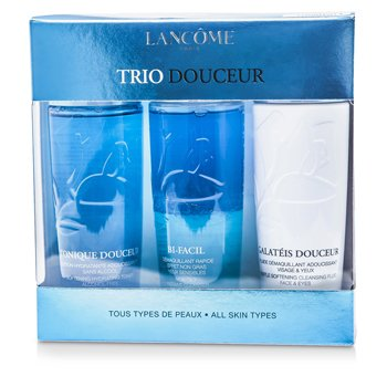Lancome Trio DouceurTrio Douceur: Bi Facil 125ml + Galateis Douceur 125ml + Tonique Douceur 125ml (All Skin Types)  3pcs