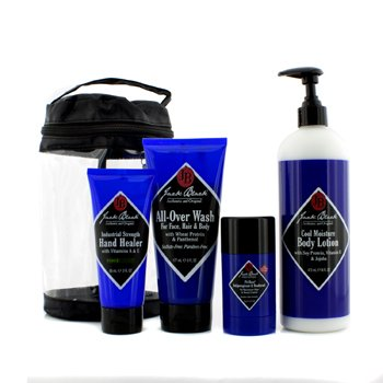 Jack Black Set Clean & Cool Body Basic: Jab�n Para Todo 177ml + Sanador de Manos 88ml + Loci�n Corporal 473ml + Desodorante 78g  4pcs