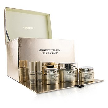 Lancome Absolue Precious Cells Coffret: Absolue SPF 15 50ml & 15ml + Cuidado Noche 15ml + Concentrado de Ojos 5ml + Oleo-Suero 5ml  5pcs
