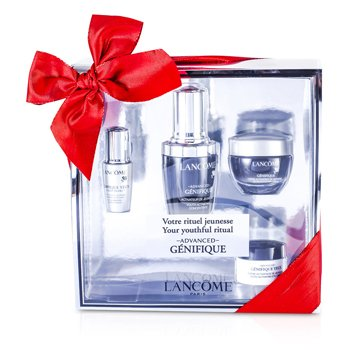 Lancome Set Advanced Genifique (Your Youthful Ritual): Concentrado 30ml + Crema 15ml + Yeux Light-Pearl 5ml + Crema de Ojos 5ml  4pcs
