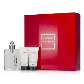 Cartier Kit Declaration: Eau De Toilette Spray 50ml/1.6oz + Shampoo 30ml/1oz + Emulsão Pós Barba 30ml/1oz  3pcs