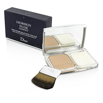 Christian Dior Diorskin Nude Compact Nude Glow Polvo de Maquillaje Vers�til SPF 10 - # 032 Rosy Beige  10g/0.35oz
