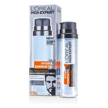 L'Oreal Men Expert Hydra Energetic Skin & Designer Stubble Gel Moisturiser (Pump) 78201733  50ml/1.7oz