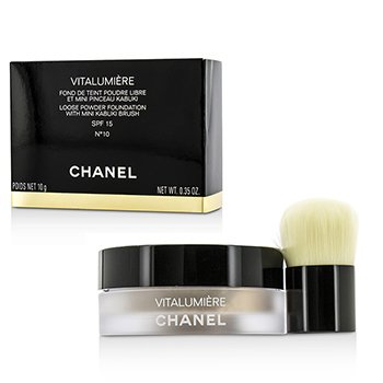 Chanel Podkład z ochronnym filtrem Vitalumiere Loose Powder Foundation SPF15 With Mini Kabuki Brush - # 10  10g/0.35oz
