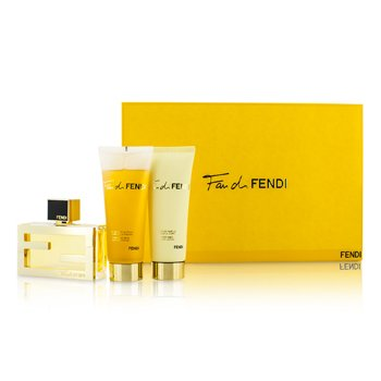 Fendi Fan Di Fendi Coffret: Eau De Parfum Spray 50ml/1.7oz + Loción Corporal 75ml/2.5oz + Gel de Ducha 75ml/2.5oz  3pcs