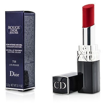 Christian Dior Rouge Dior Baume Natural Lip Treatment Couture Colour - # 758 Lys Rouge  3.2g/0.11oz