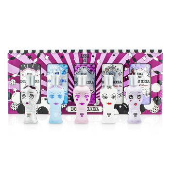 Anna Sui Dolly Girl Miniature Coffret: (Dolly Girl, Lil's Starlet, On the Beach, Ooh La Love, Bonjour L'Amour)  5x4ml/0.14oz