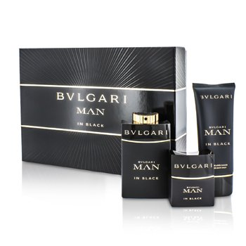 Bvlgari In Black Coffret: Eau De Parfum Spray 100ml/3.4oz + Eau De Parfum Spray 30ml/1oz + Bálsamo para Después de Afeitar 100ml/3.4oz  3pcs
