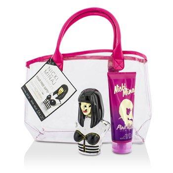 Nicki Minaj Bộ Onik: Eau De Parfum Spray 100ml/3.4oz + Dưỡng Thể Pink Friday 200ml/6.8oz + Túi  2pcs+bag