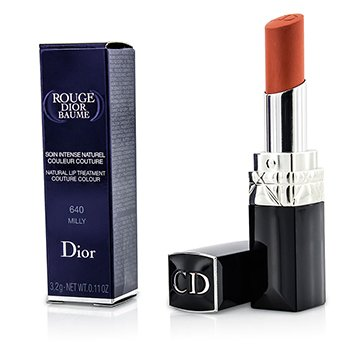 Christian Dior Batom Rouge Dior Baume Natural Lip Treatment Couture Colour - # 640 Milly  3.2g/0.11oz