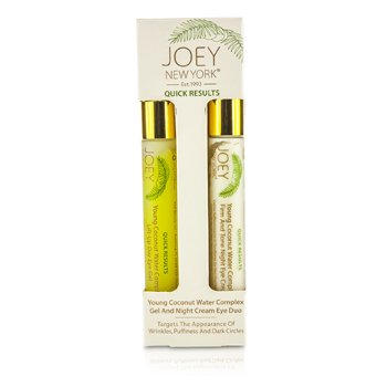 Joey New York Quick Results Young Coconut Water Complex Gel and Night Cream Eye Duo  2x14g/0.5oz