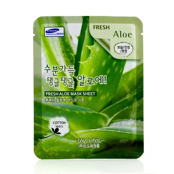 3W Clinic Mask Sheet - Fresh Aloe  10pcs
