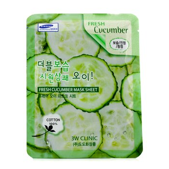 3W Clinic Mask Sheet - Fresh Cucumber  10pcs