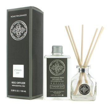 The Candle Company Difuzér s esenciálními oleji a rákosovými tyčinkami – Šampaňské a růže  100ml/3.38oz