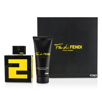 Fendi Kit Fan Di Fendi Pour Homme: Eau De Toilette Spray 100ml/3.3oz + Shampoo 100ml/3.3oz  2pcs