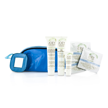 Joey New York Kit Total Perfecttion Skin Care: Máscara 41.4ml + Esfoliante 38ml + Bye Bye Blackheads 10ml + 3x Cleansing Wipes + Necessaire  6pcs+1bag