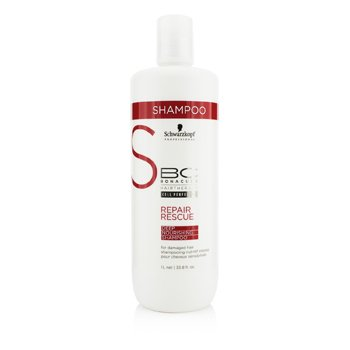 Schwarzkopf BC Repair Rescue Deep Nourishing Shampoo (Vahingoittuneille)  1000ml/33.8oz