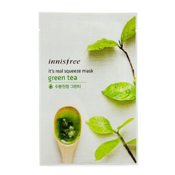 Innisfree It's Real Squeeze Maske - Yeşil Çay  10pcs