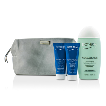 Biotherm Aquasource Set: Instant Hydration Toning Lotion 125ml + Hydrating Jelly 2x20ml + Bag  3pcs+1bag