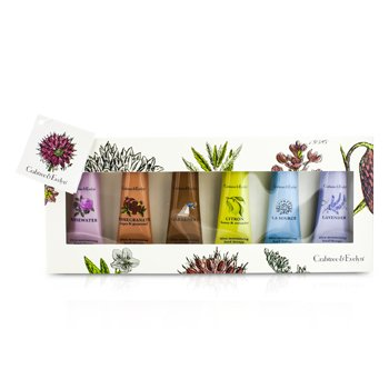 Crabtree & Evelyn Best Seller Hand Cream Set: La Source 25g + Gardeners 25g + Rosewater 25g + Lavender 25g + Citron 25g + Pomegranate 25g  6x25g/0.9oz