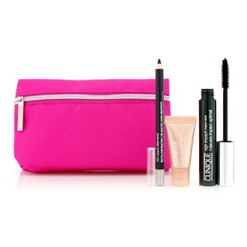 Clinique High Impact Set De Favoritos: High Impact M�scara + Crema Moldeadora Ojos + All About Eyes Suero + Estuche  3pcs+1bag