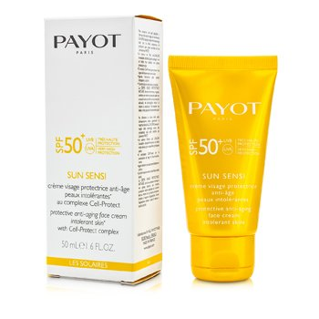 Payot Les Solaires Sun Sensi Suojaava Kasvovoide Ikääntymistä vastaan SPF 50+  50ml/1.6oz
