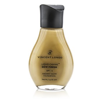 Vincent Longo Liquid Canvas Dew Finish Base Con SPF15 (Brillo Radiante) - # 4 Warm Beige (Sin Caja)  30ml/1oz