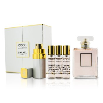 Chanel Coco Mademoiselle Coffret: Eau De Parfum Spray. 50ml/1.7oz + Purse Spray. with 3 Refills 4x7.5ml  5pcs