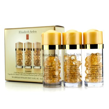 Elizabeth Arden Ceramide Gold Ultra Cápsulas Ojos Lift & Fortaleza  3x30 Capsules