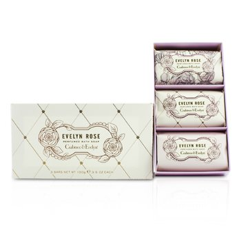 Crabtree & Evelyn Evelyn Rose Perfumed Bath Soap  3x100g/3.5oz
