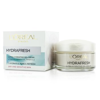 L'Oreal Hydrafresh Crema Gel Ultra Hidratante - Para Piel Seca & Sensible  50ml/1.69oz