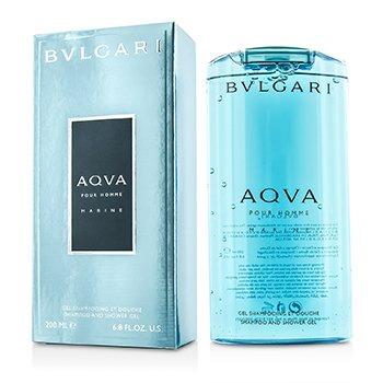 Bvlgari Aqva Pour Homme Marine Şampon şi Gel de Duş  200ml/6.8oz