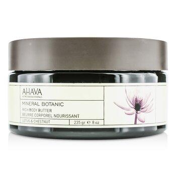 Ahava Manteca Corporal Mineral Botánica - Lotus & Chestnut  235g/8oz